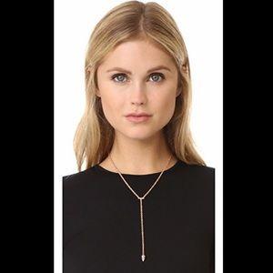 Rebecca Minkoff 'Y' Necklace in Silvertone